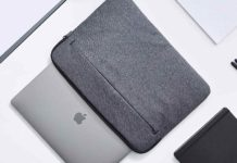 _AmazonBasics Laptop Sleeve Case with Front Pocket, 15 Inch, Grey-min