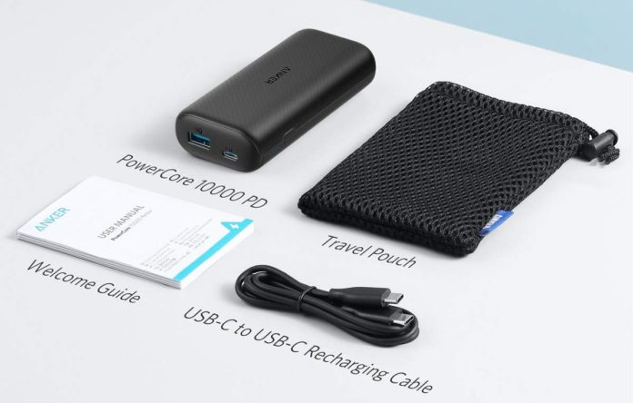 Anker PowerCore 10000 PD, 10000mAh Portable Charger USB-C Power Delivery -min