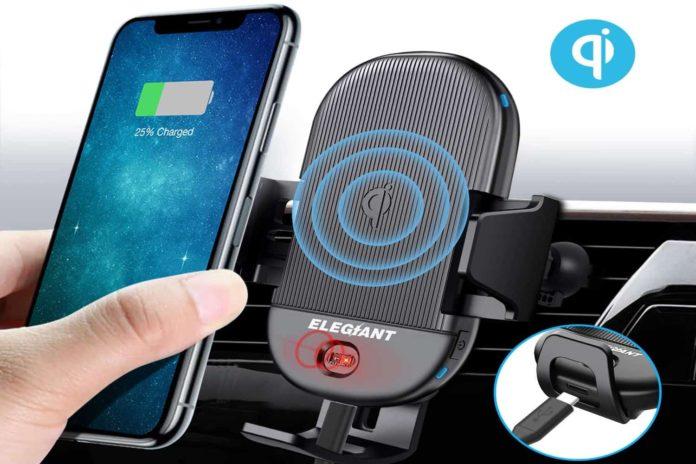 ELEGIANT Qi Wireless Car Charger Mount-min