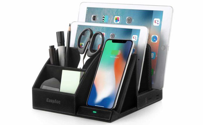 EasyAcc Fast Wireless Charger Desk Organizer-min (1)