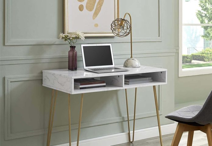 Novogratz Athena Computer Desk with Storage-min
