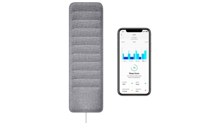 Sleep Tracking Pad Under The Mattress with Sleep Cycle Analysis, -min