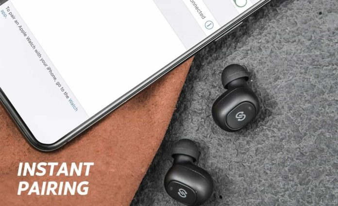 _SoundPEATS True Wireless Earbuds 5.0 Bluetooth Headphones in-Ear Stereo Wireless Earphones-min