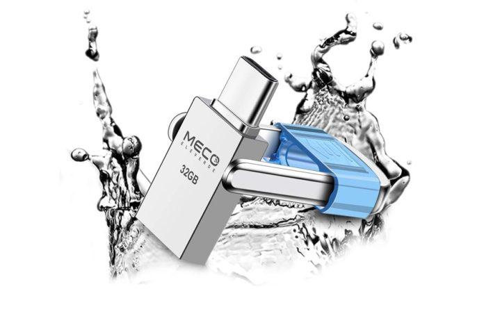 USB C Flash Drive, MECO 32GB 2 in 1 OTG USB C+ USB 3.0 Dual Drive Waterproof Memory Stick-min