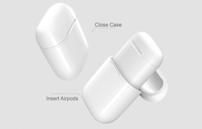 eotrixQI A5-W Wireless Charging Case Protective Cover Compatible for Apple AirPods Case and Any Qi Wireless Charger
