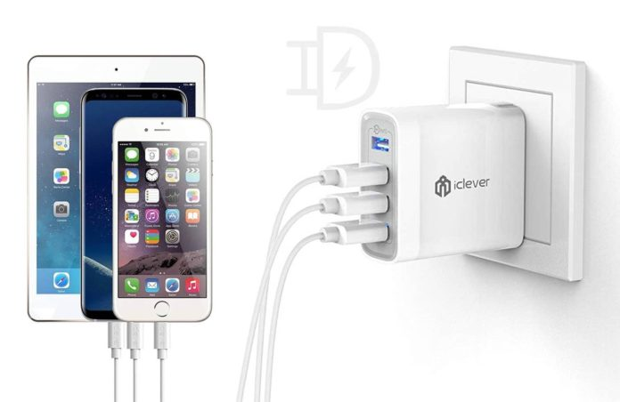 iClever USB Wall Charger, 40W 4-Port Charging Station-min