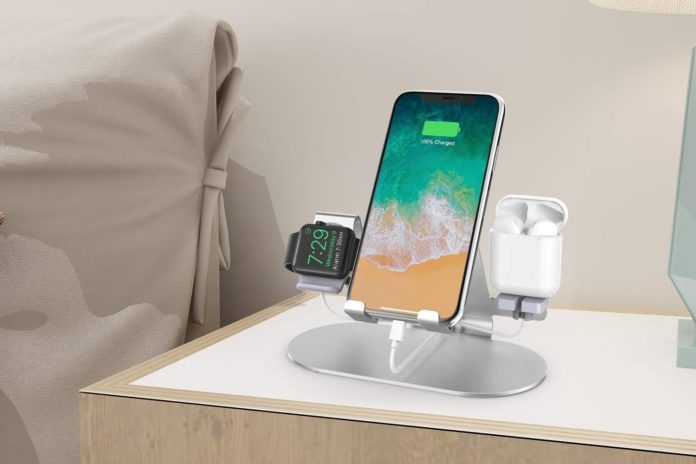 _3 in 1 Aluminum Charging Station for Apple Watch Charger Stand Dock-min