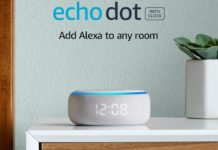 _All-new Echo Dot (3rd Gen) - Smart speaker with clock and Alexa - Sandstone-min