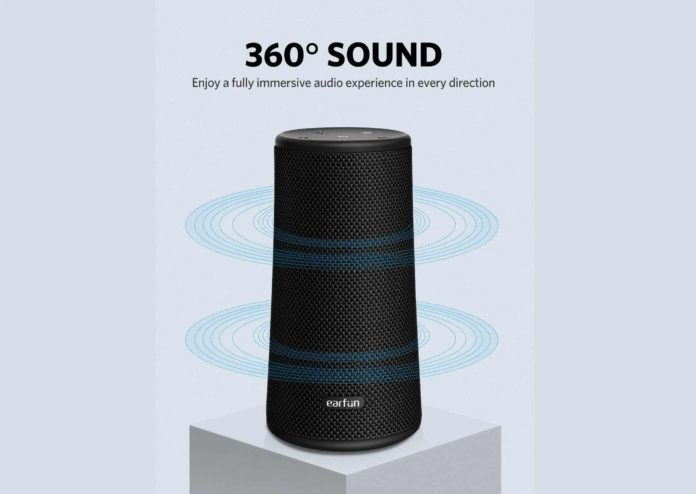 EarFun UBOOM 360° Wireless Speakers with USB C Port-min