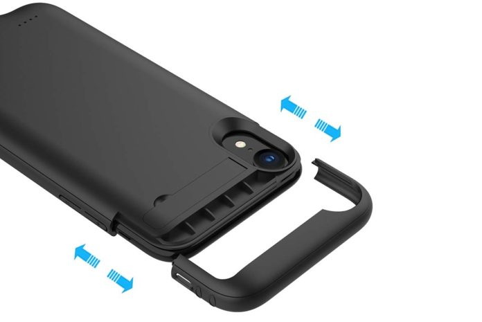 Euhan 4200mAh Slim Rechargeable Power Charging Case for iPhone XR