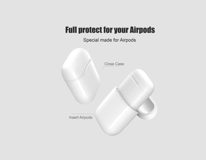 NeotrixQI A5-W Wireless Charging Case Protective Cover Compatible for Apple AirPods -min
