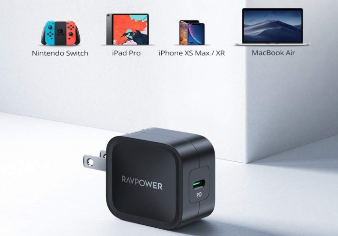 RAVPower 30W PD 3.0 [GaN Tech] Type-C Fast Charging Adapter with Folding Prong-min