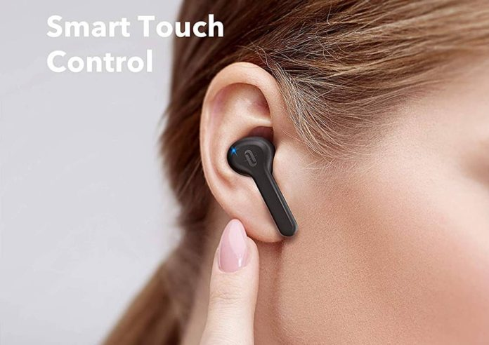 TaoTronics True Wireless Earbuds Bluetooth 5.0 TWS In-Ear Earphones-min