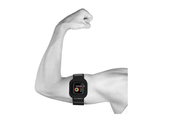 Twelve South ActionSleeve:Armband for 42mm Apple Watch, Slim:Black