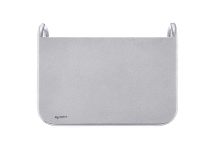 AmazonBasics Metal Laptop Computer Monitor Riser Stand - Silver -min (1)