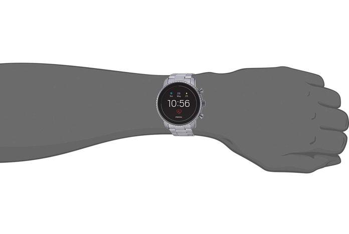 Fossil Men's Gen 4 Explorist HR Stainless Steel Touchscreen Smartwatch