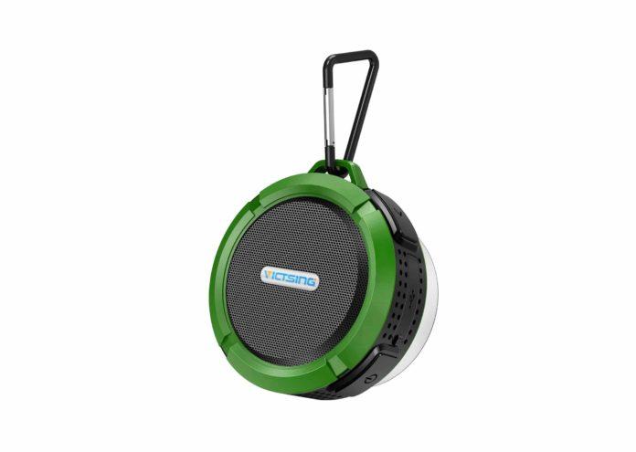 VicTsing Mini Shower Speaker with Loud Stereo Sound-min