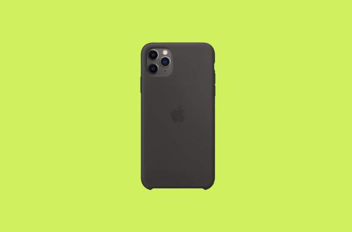 Apple Silicone Case (for iPhone 11 Pro Max) - Black -min