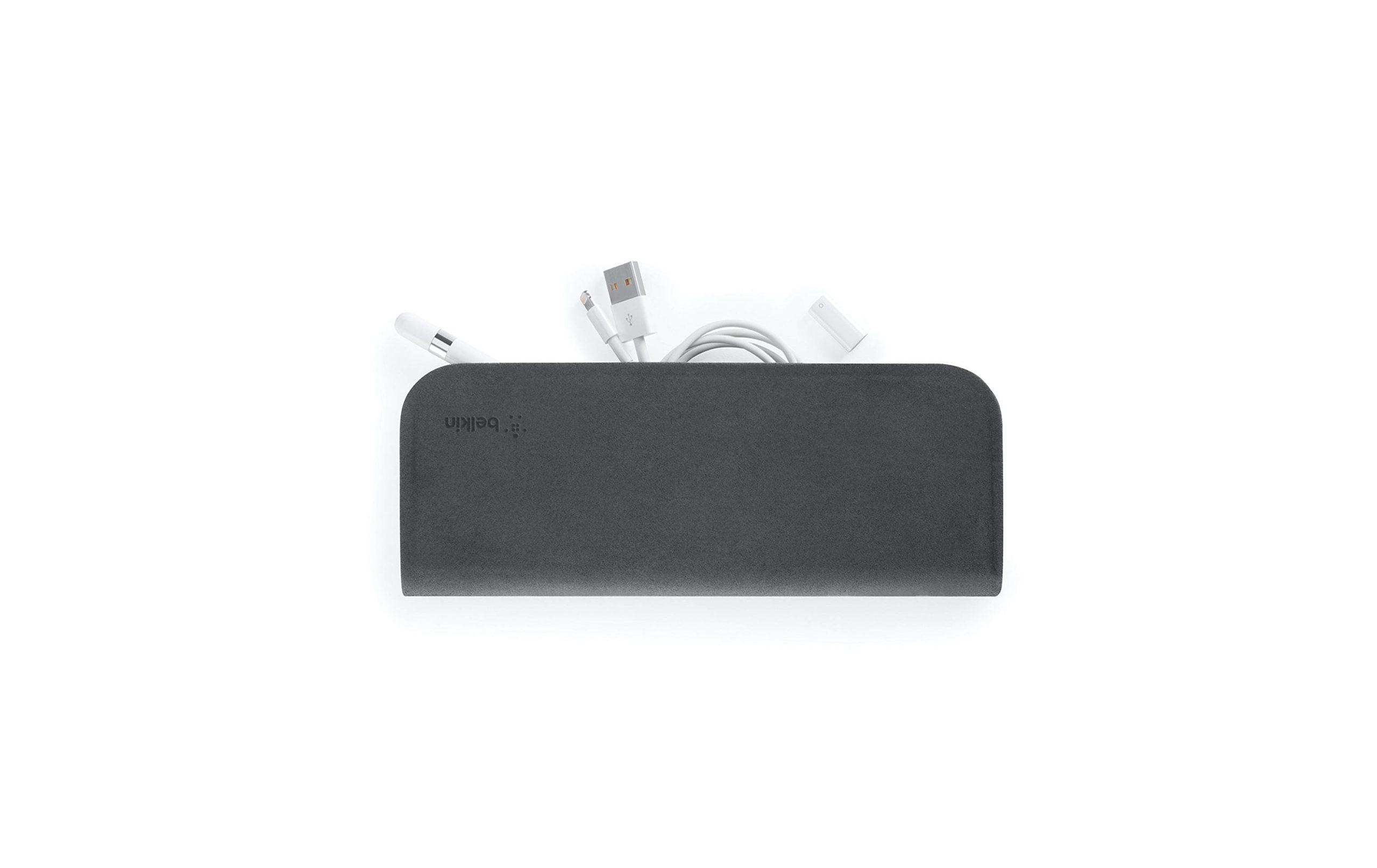Belkin F8W792btC00 Carrying Case for Apple Pencil with Built-in Zipper Pocket - Black -min