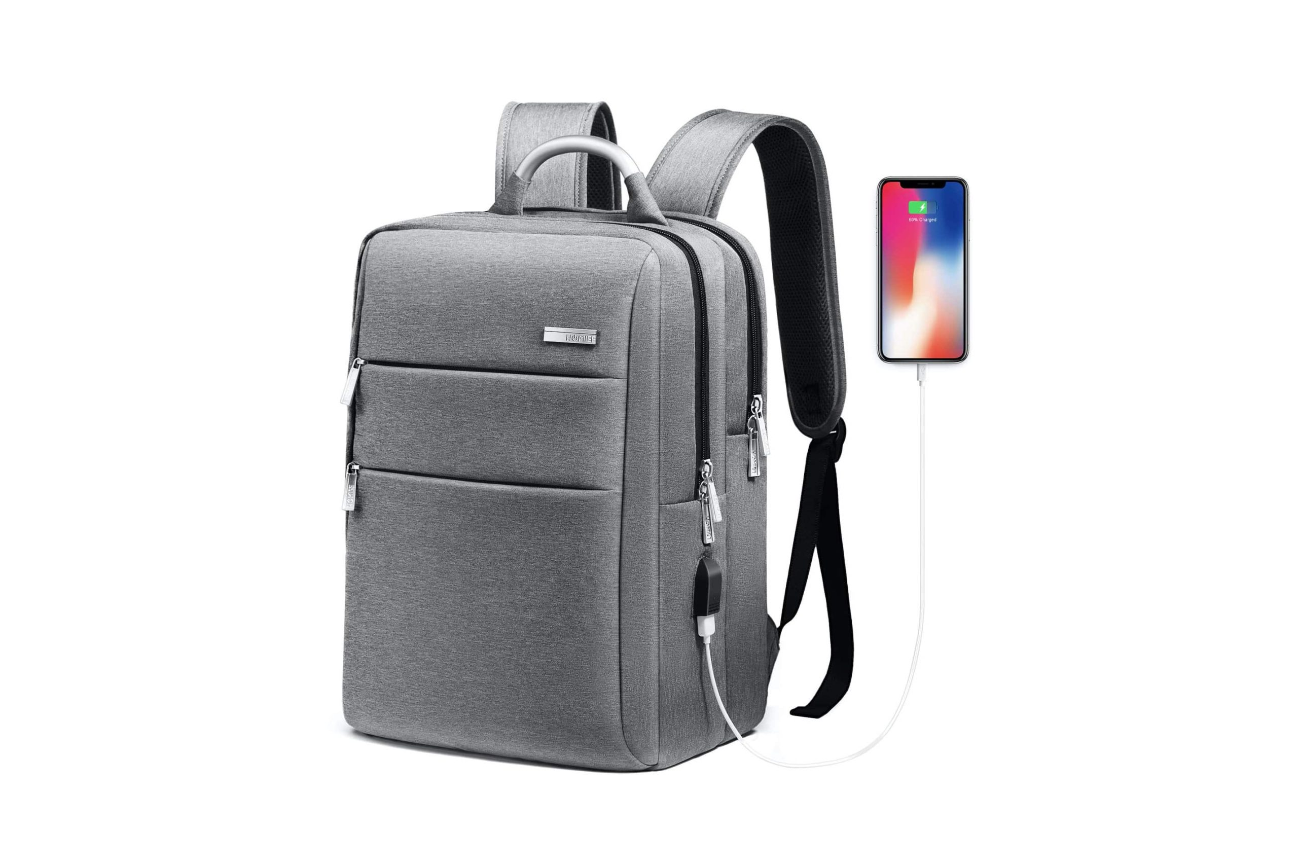 Business Travel Backpack with USB Charging Port -min (1)