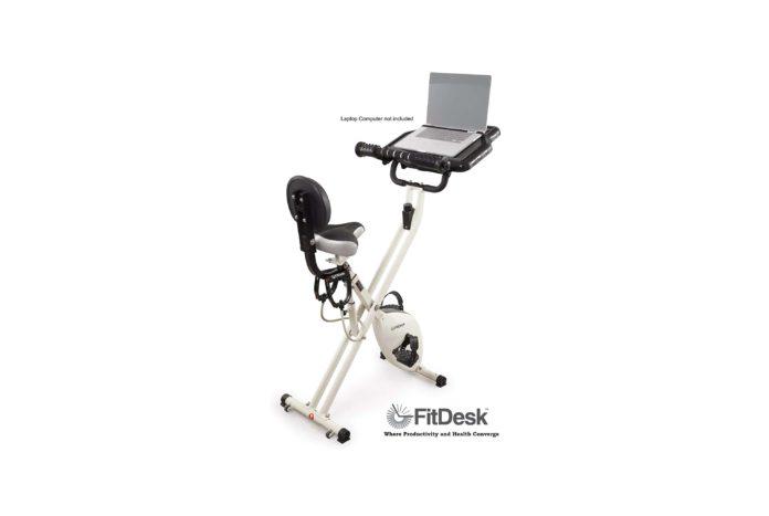 FitDesk Desk Exercise Bike and Office Workstation with Massage Bar -min