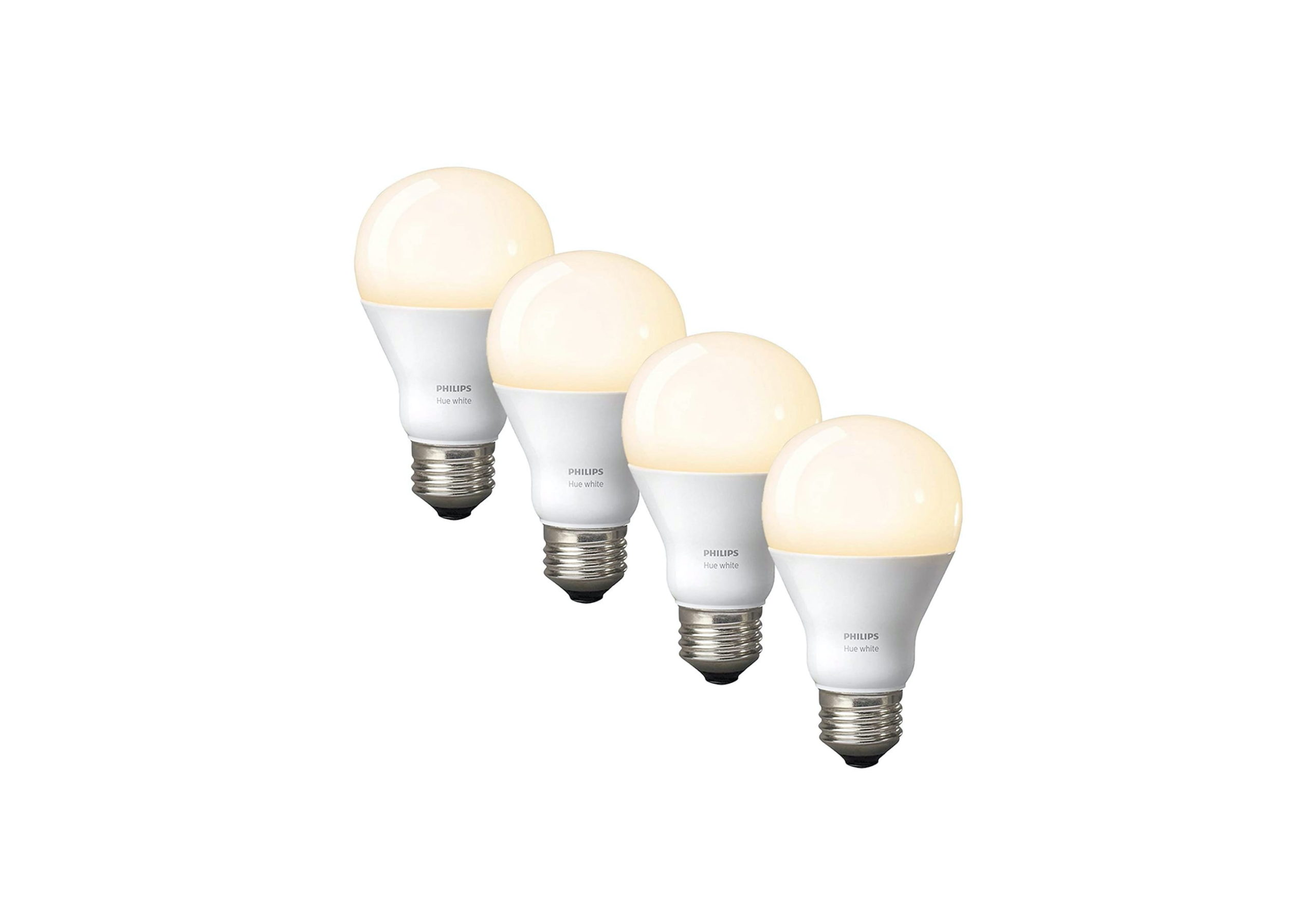 _Philips Hue White A19 4-Pack 60W Equivalent Dimmable LED Smart Bulb-min (1)