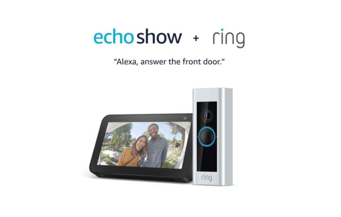 Ring Video Doorbell Pro with Echo Show 5 (Charcoal) -min