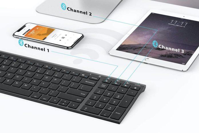 _iClever Bluetooth Keyboard, Universal Wireless Keyboard-min