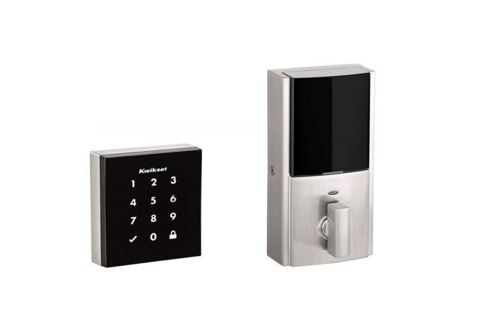 Kwikset 99530-001 Obsidian Slim Modern Electronic Touchscreen Keyless Deadbolt-min