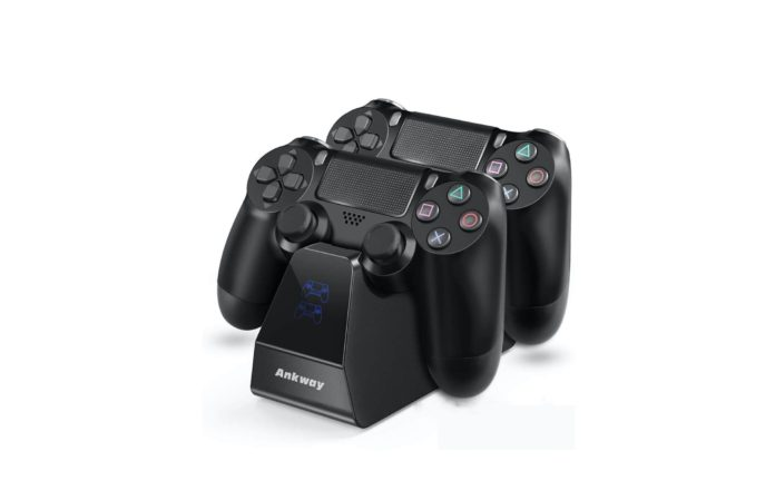 PS4 Controller Charger Ankway Dual Fast Charging Docking Station Stand -min