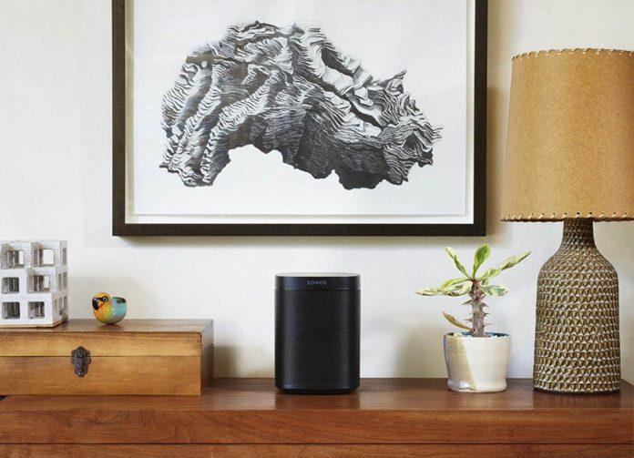 Sonos One (Gen 2) - Voice Controlled Smart Speaker with Amazon Alexa Built-in - Black -min