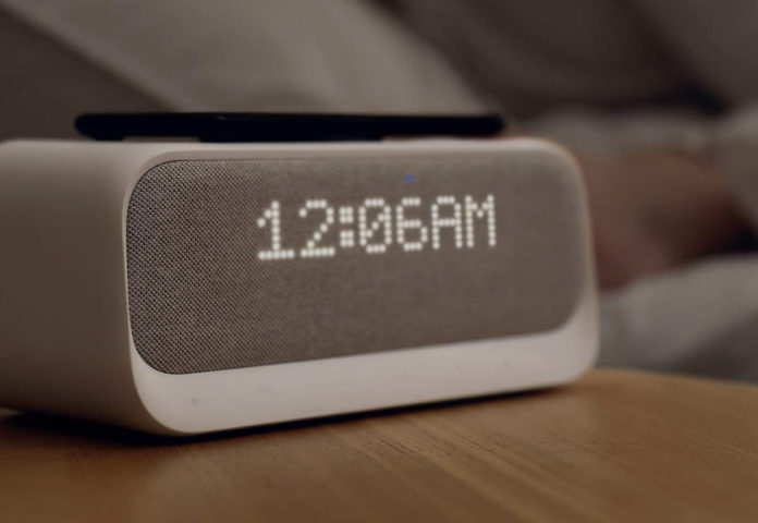 Soundcore Wakey Bluetooth Speakers Powered by Anker with Alarm Clock, Stereo Sound, FM Radio, White Noise, Qi Wireless Charger with 7.5W Charging for iPhone-min