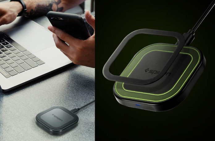 Spigen SteadiBoost Compact Wireless Charger-min