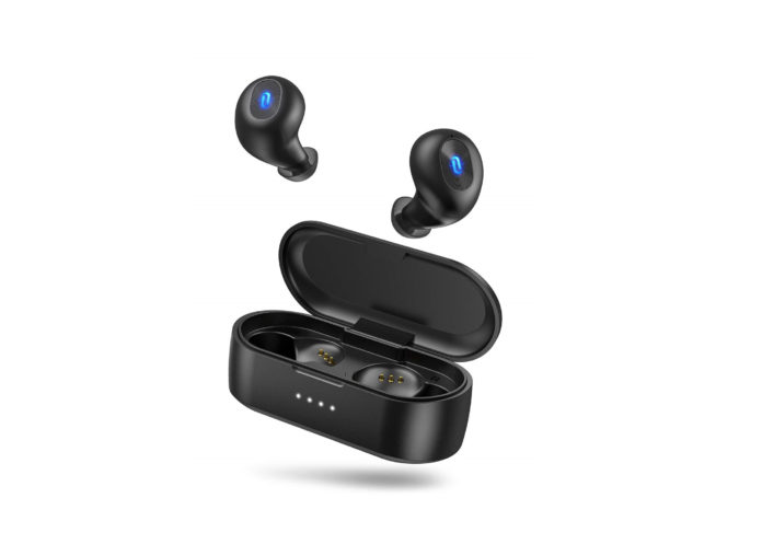 Wireless Earbuds, TaoTronics Bluetooth 5.0 Headphones SoundLiberty 77 Bluetooth Earbuds IPX7 Waterproof Hi-Fi Stereo Sound-min