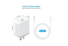 18W PD Wall Charging Adapter Plug with lighting cable