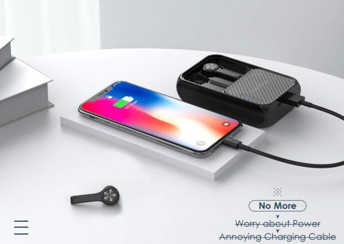 HolyHigh True Wireless Earbuds Bluetooth 5.0 Earphones-min