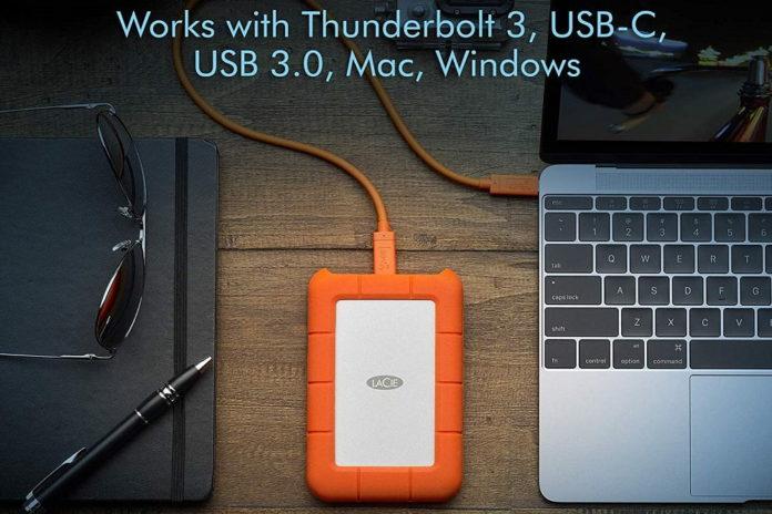 LaCie Rugged USB-C 5TB External Hard Drive-min
