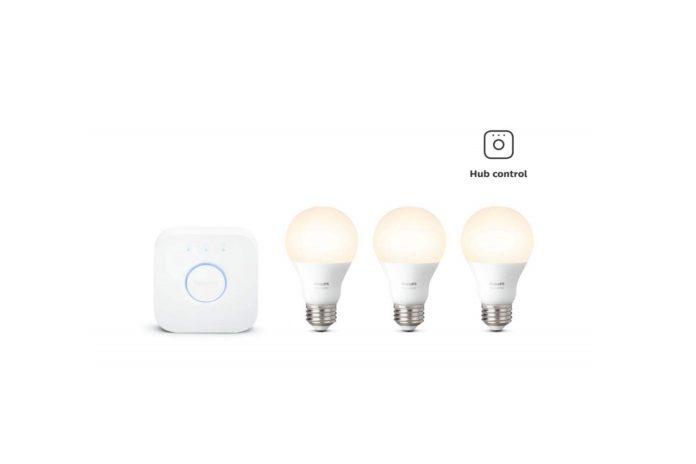 Philips Hue White LED Smart Light Bulb Starter Kit