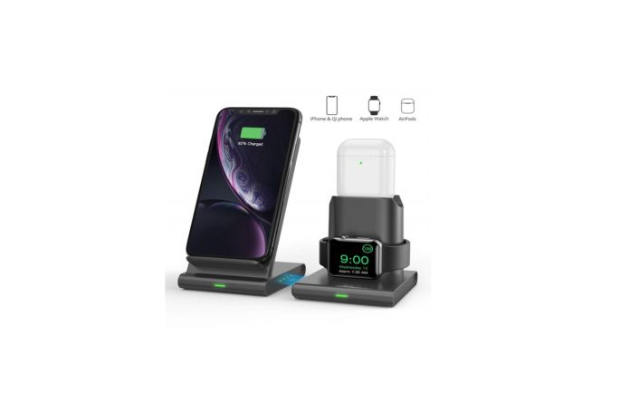 TECTAG 10W Fast 3 in 1 Wireless Charging Station