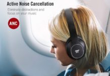 TaoTronics Active Noise Cancelling Bluetooth Headphones-min