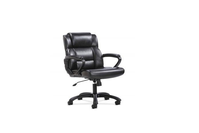 sadie Leather Executive Computer or Office Chair with Arms