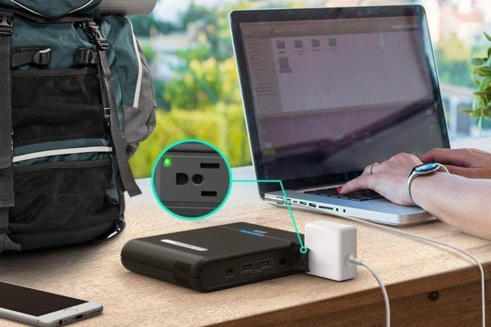 AC Outlet Portable Laptop Charger, RAVPower 27000mAh Power Bank 85W