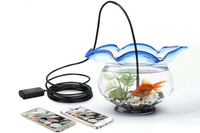 DEPSTECH Wireless Endoscope, IP67 Waterproof WiFi Borescope Inspection 2.0 Megapixels HD Snake Camera