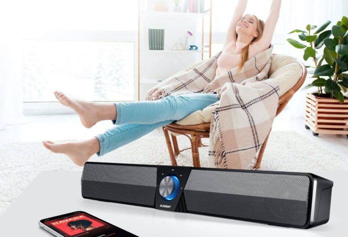 Elegiant's Mini Bluetooth 5.0 Sound Bar-min