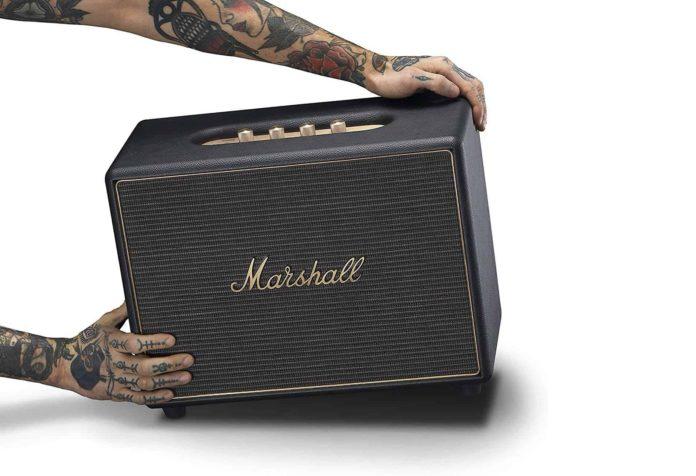 Marshall Woburn Multi-Room Wi-Fi and Bluetooth Speaker-min