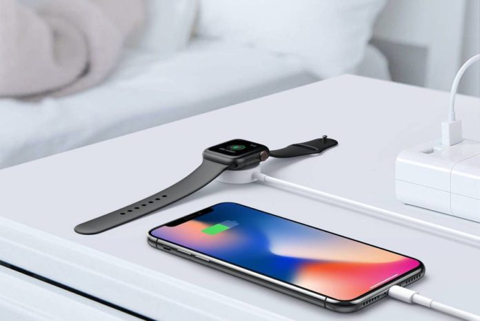 Updated Version Watch Charger Magnetic Cable for iWatch 5:4:3:2:1, 2in1 Wireless Charging Cable Compatible with Apple Watch Series