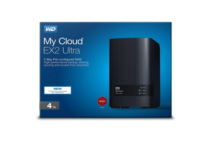 WD 4TB My Cloud EX2 Ultra Network Attached Storage