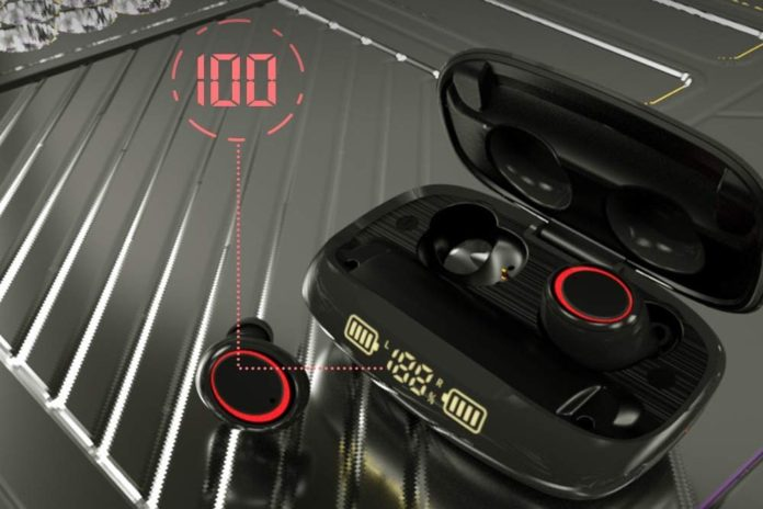 Wireless Earbuds Xunpuls Bluetooth 5.0 Headphones with LED Display