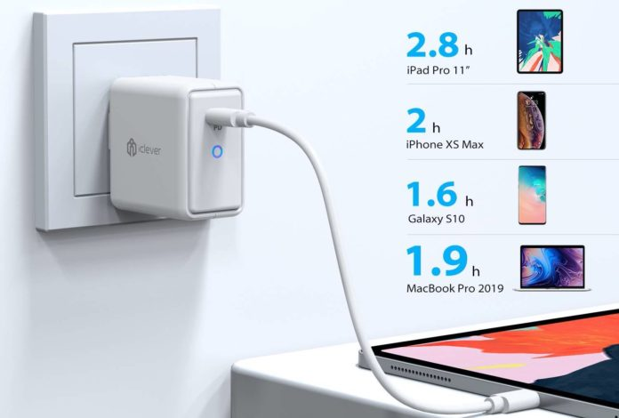 iClever 61W GaN PD 3.0 Fast Charger