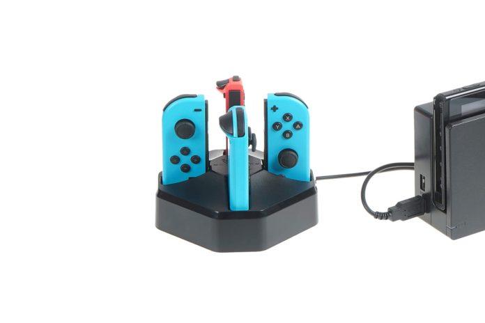 AmazonBasics Charging Station Dock for 4 Nintendo Switch